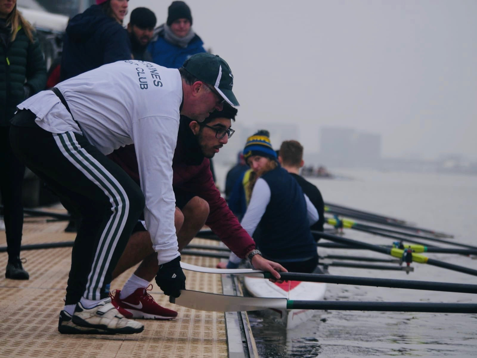 Haider draws in the oars